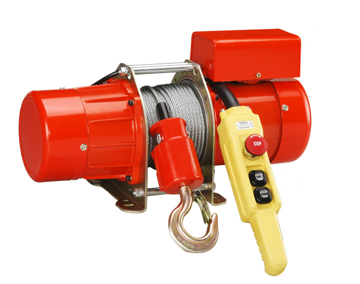 JV - electric winch , electric hoist , 200kg ~ 300kg , 電動吊車 , 電動捲揚機 , 220v ~ 240v , 6*30m rope